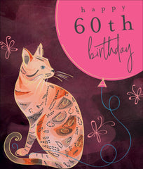 Purrfect Bengal Cat 60th Birthday Card