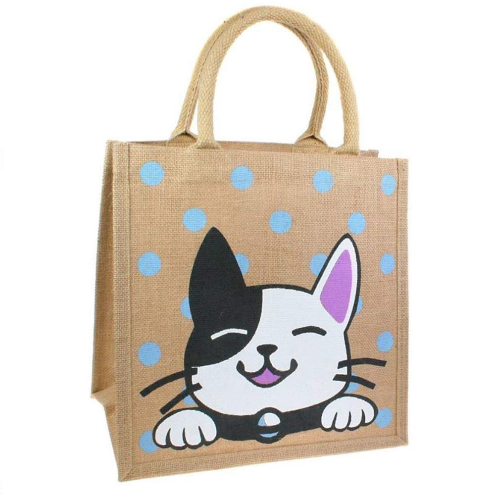 Black & White Cat Jute / Tote Bag