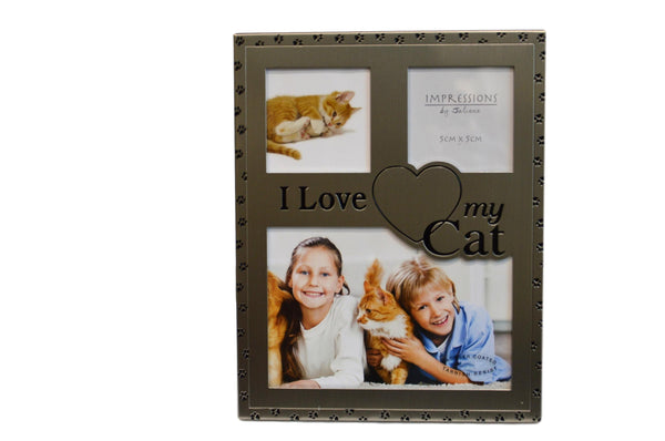 Gun Metal Cat Picture Frame