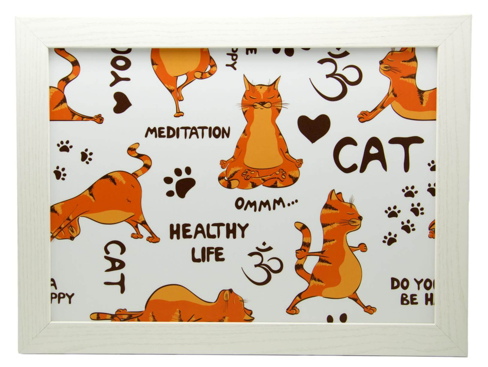 Yoga Cats Ginger Lap Tray by Fabulous Felines