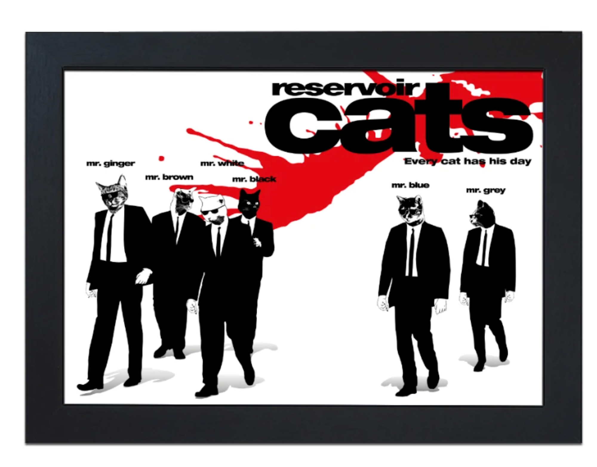 Reservoir Cats Lap Tray by Fabulous Felines