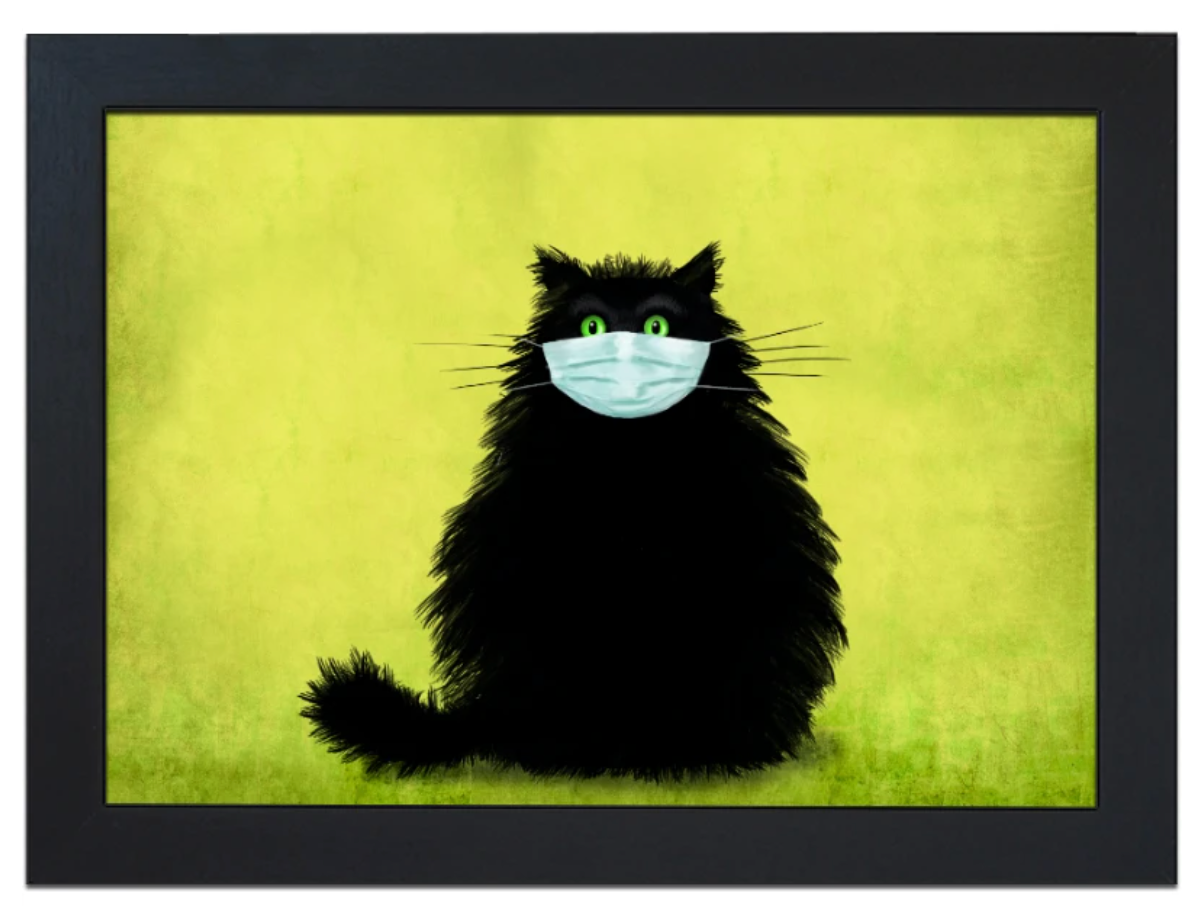 The Masketeer Cat Design Lap Tray by Fabulous Felines