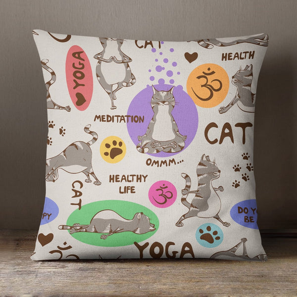 Yoga Cat Soft Feel Cushion