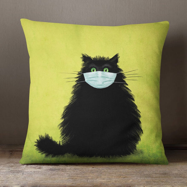 The Masketeer Cat Soft Feel Cushion