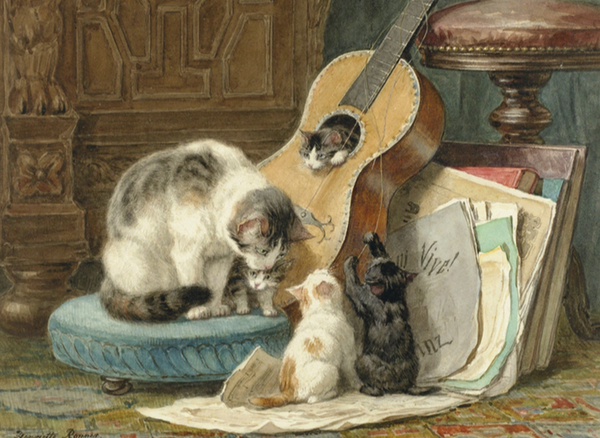 The Musicians Cat Greeting Card (FF9762)