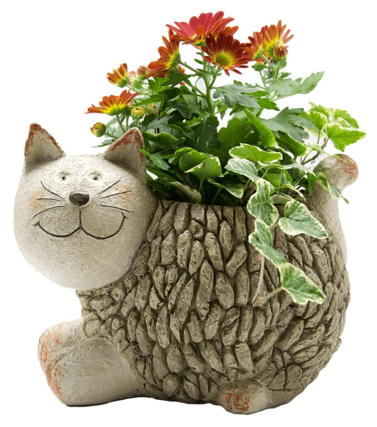 Mosaic Cat Planter