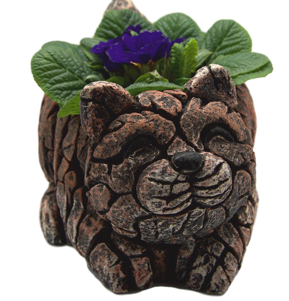 Cute Mosiac Edge Style Cement Cat Planter