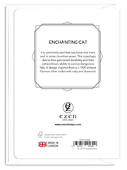 'Enchanting Cat' Cat Greeting Card
