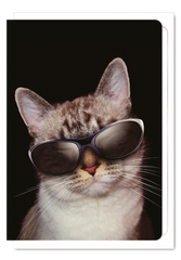 'Cool Cat' Cat Greeting Card