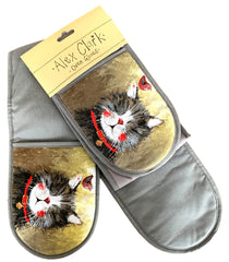 Klaus Cat Double Oven Gloves