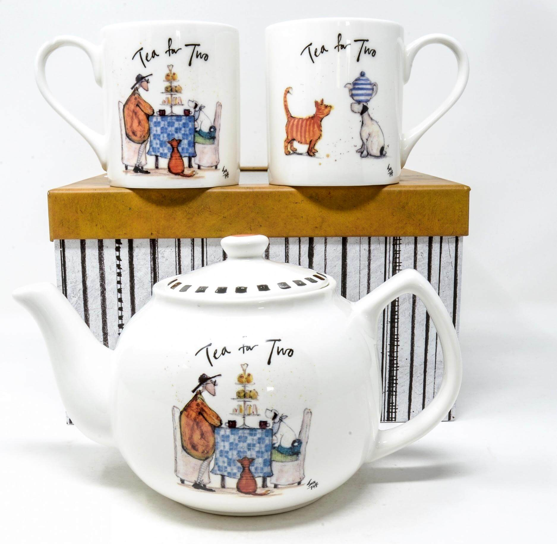Sam Toft Tea for Two Teapot and Mug Set