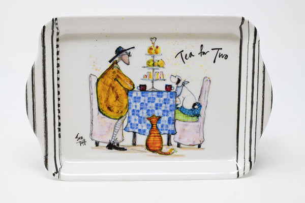 Sam Toft Tea for Two Cat & Dog Scatter Tray
