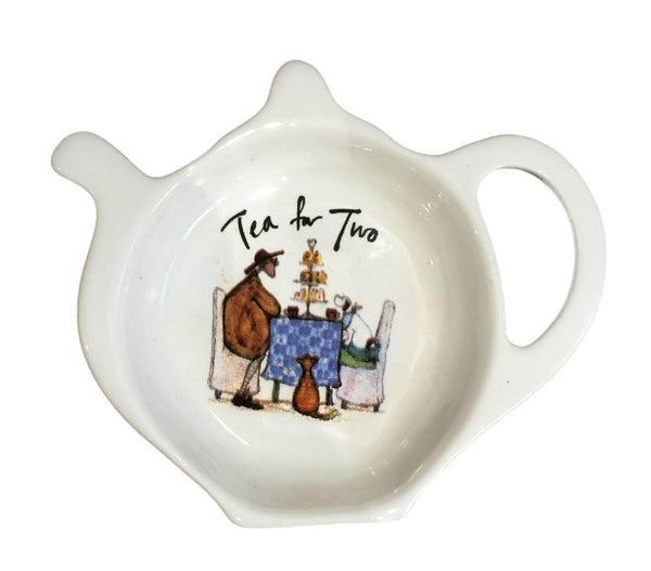 Sam Toft Tea for Two Teabag Tidy Spoon Rest