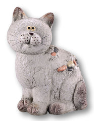 Cute Stone Effect Cat Garden Ornament