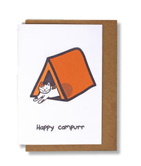Happy Campurr Cat Greeting Card