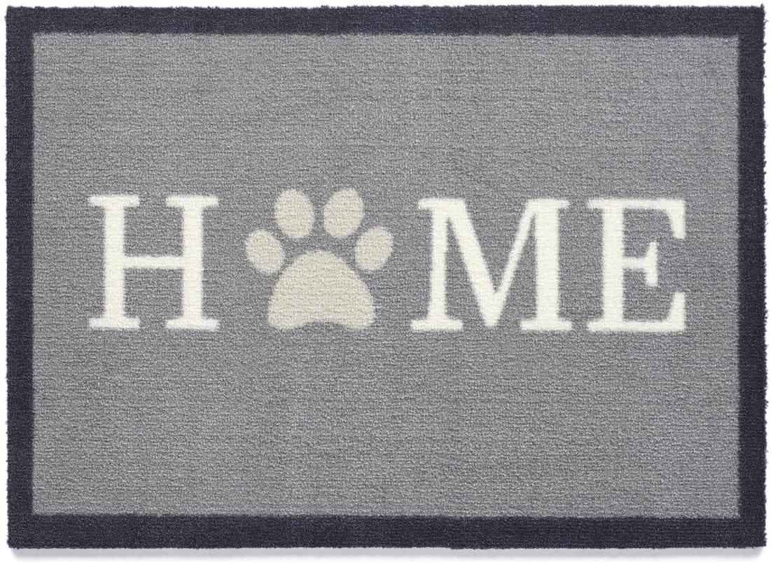Grey Home Paw Door Mat
