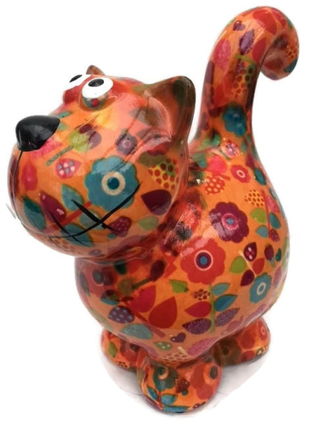 "Orange Ceramic Pomme Pidou ""Dorothy"" Cat Money Box"