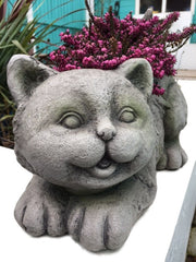 Cute Cat Stone Effect Planter