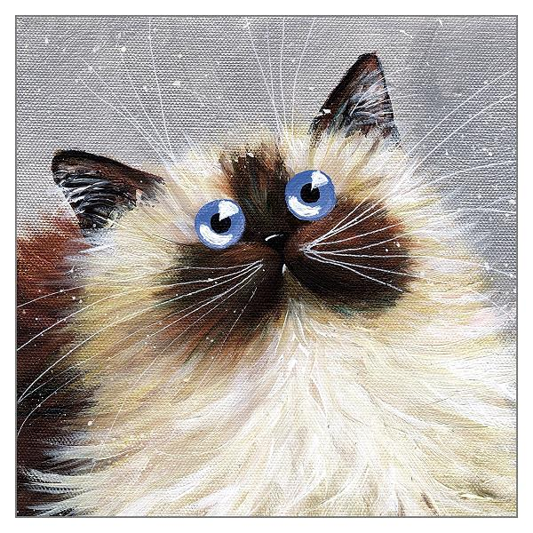 'Blue Eyes' Cat Greeting Card