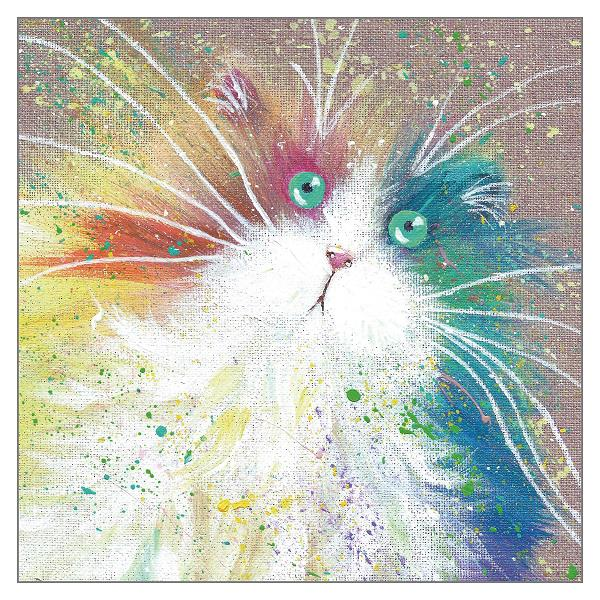 'Fruitloop' Cat Greeting Card