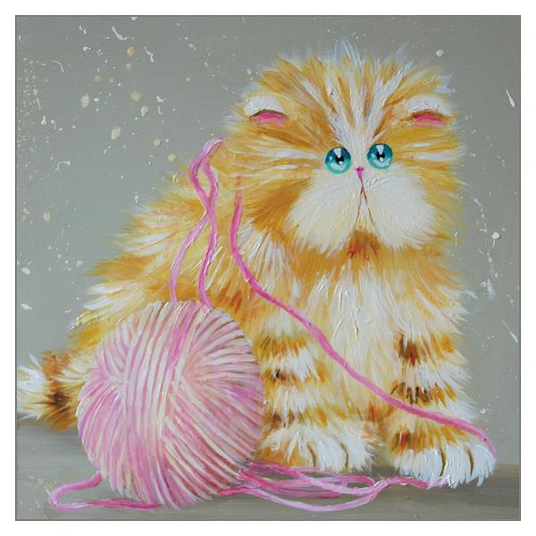 'Purrling' Cat Greeting Card