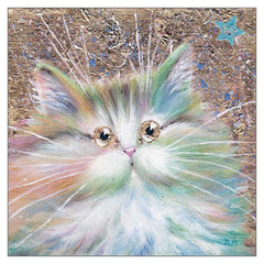 'Starlight' Cat Greeting Card