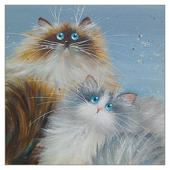 'Kramer & Cosmo' Cat Greeting Card