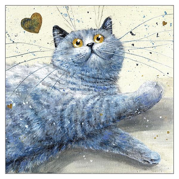 'Wilf' Cat Greeting Card