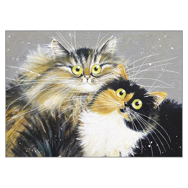 'Jezebel and Juliette' Cat Greeting Card