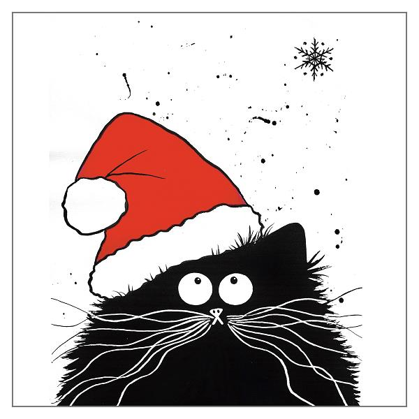'Feline Festive' Cat Greeting Card