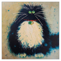 'Lucky Jim' Cat Greeting Card