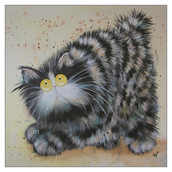 'Foss' Cat Greeting Card