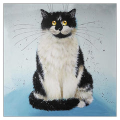 'Mr Grumpy' Cat Greeting Card