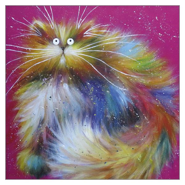 'Spangle' Cat Greeting Card