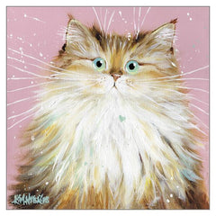 'Peggy' Cat Greeting Card