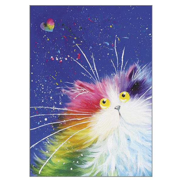 'Happy' Cat Greeting Card