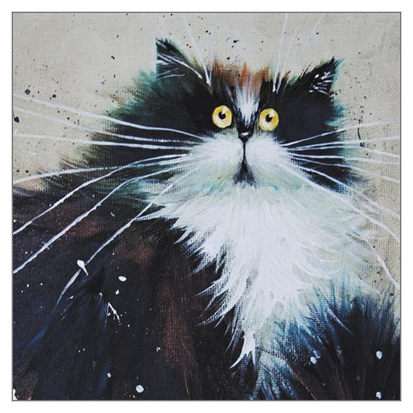 'Marbles' Cat Greeting Card