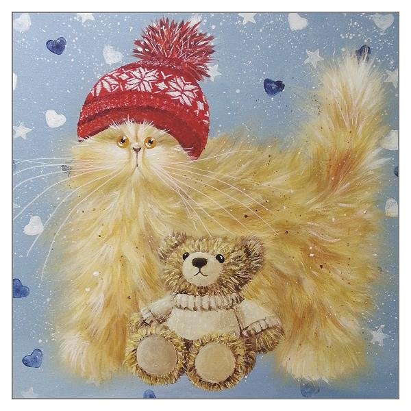 'Cupid' Funny Ginger Cat Greeting Card