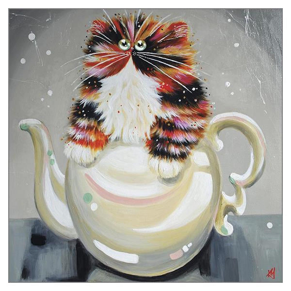 'Oolong' Funny Cat Greeting Card