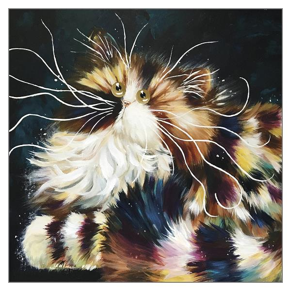 'Hortense' Cat Greeting Card by Kim Haskins