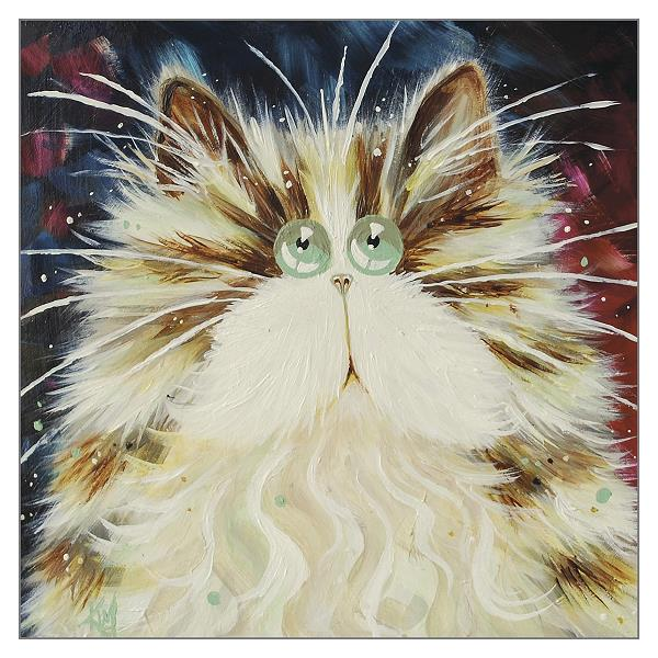 'Jazz' Blank Cat Greeting Card by Kim Haskins