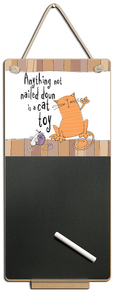 Anything Not Nailed Down Cat Chalkboard & Chalk