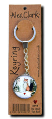 The Good The Bad Cat Keyring