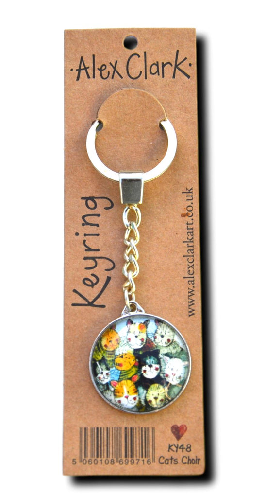 Cat's Choir Cat Keyring