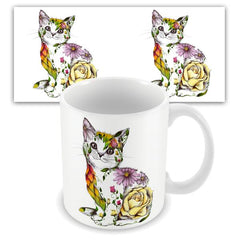 Beautiful Cat Mug by Kat Baxter