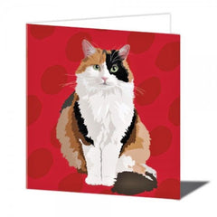 Tortoiseshell Cat Greeting Card