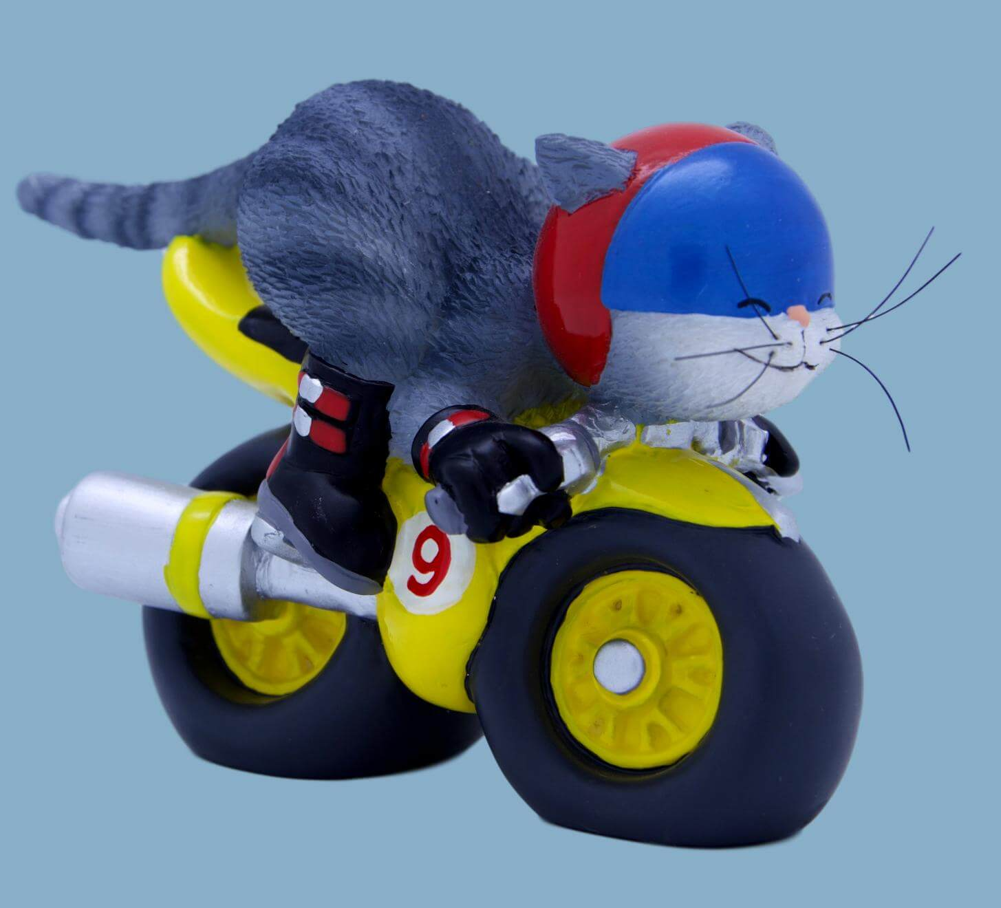 9 Lives Route 99 Grey Cat Figurine