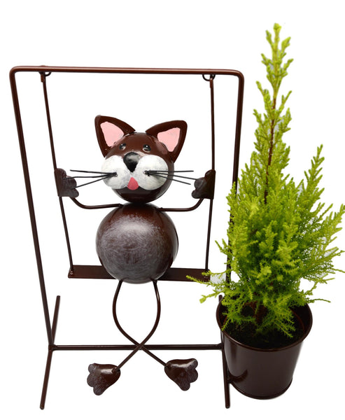 Swinging Cat Planter