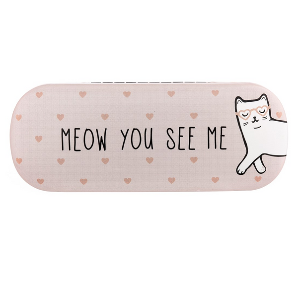 Cutie Cat Meow You See Me Hard Glasses Case