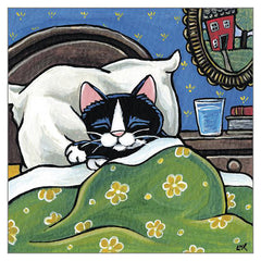 'Sweet Dreams' Cat Greeting Card by Lisa Marie Robinson